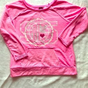 Hard Candy light sweat shirt in stand out hot pink